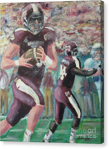 University Of Mississippi Ole Miss Canvas Print - Hail State by Leslie Saucier