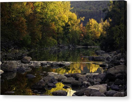 Hailstone Sunrise Fall Color 2012 Canvas Print