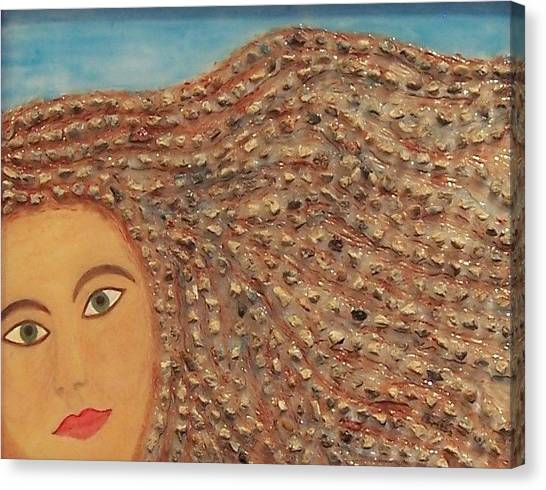 Hair Canvas Print by Anneliese Fritts