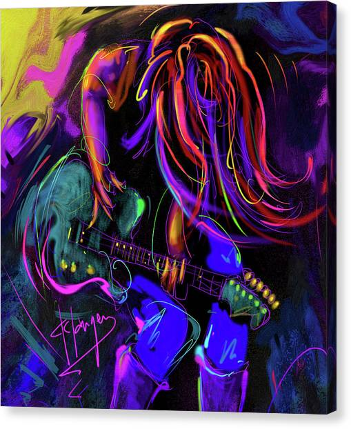 Hair Guitar 2 Canvas Print