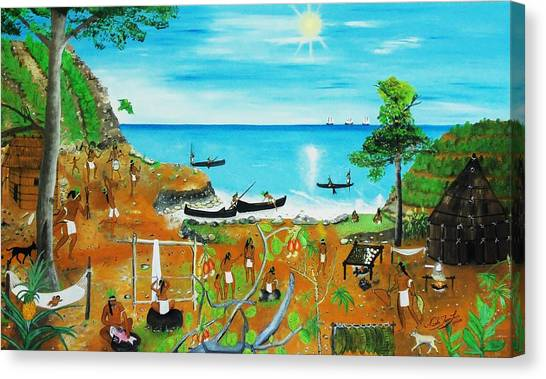 Haiti 1492 Before Christopher Columbus Canvas Print