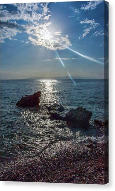 Haitian Beach In The Late Afternoon Canvas Print