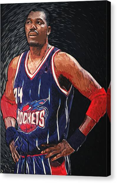 Dwight Howard Canvas Print - Hakeem Olajuwon by Zapista