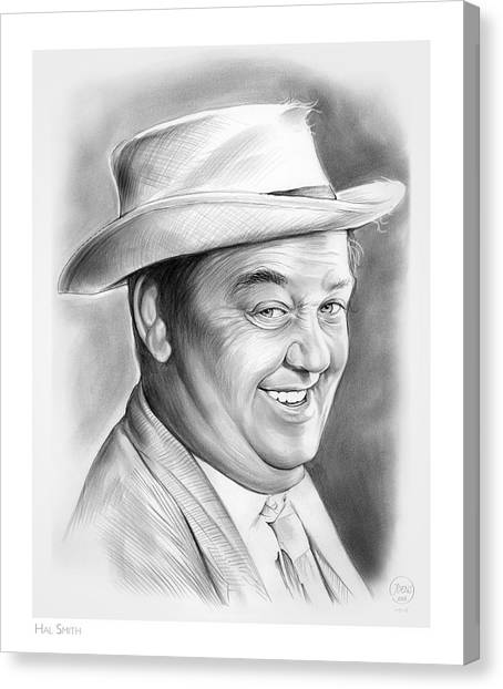 Drunk Canvas Print - Hal Smith by Greg Joens