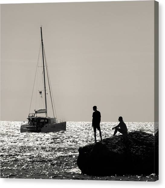 Catamarans Canvas Print - Halcyon Days by Dave Bowman
