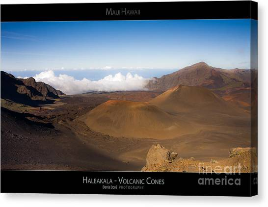 Haleakal Volcanic Cones - Maui Hawaii Posters Series Canvas Print by Denis Dore