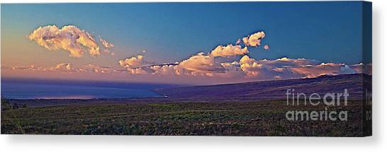Haleakala In Sunset Clouds Canvas Print