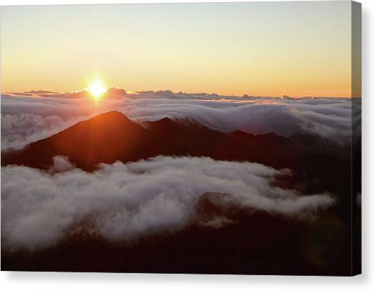 Canvas Print featuring the photograph Haleakala by Lucian Capellaro