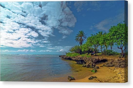 Haleiwa Beach Canvas Print by Bob Juarez