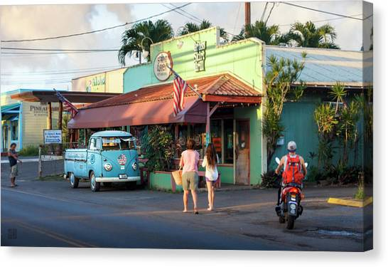 Hale'iwa Shops Canvas Print