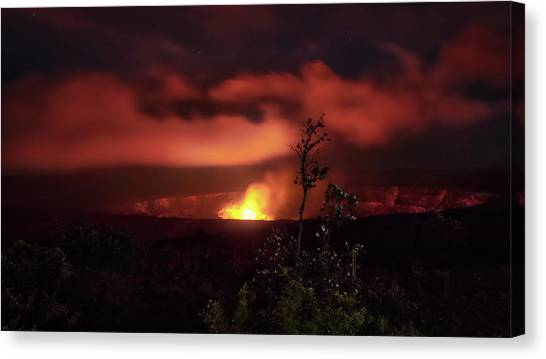 Halemaumau Crater Canvas Print