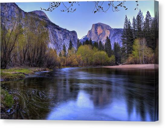 Yosemite National Park Canvas Print - Half Dome Near Sunset by Jim Dohms