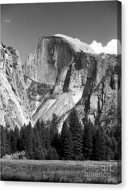 Canvas Print featuring the photograph Half Dome by Ron Sadlier