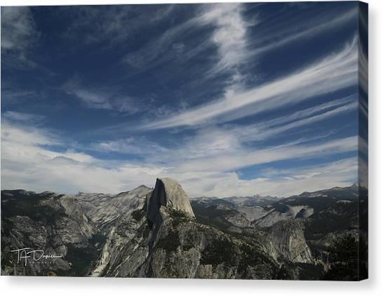 Half Dome Sky Canvas Print