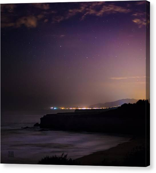 Half Moon Bay Aglow Canvas Print