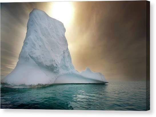 Antarctica Canvas Print - Half Moon Over Island by Michael Leggero