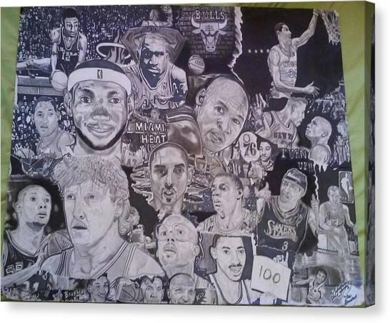 Dwayne Wade Canvas Print - Hall Of Fame by Demetrius Washington