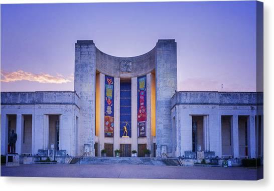 Centennial Canvas Print - Hall Of State Texas by Joan Carroll
