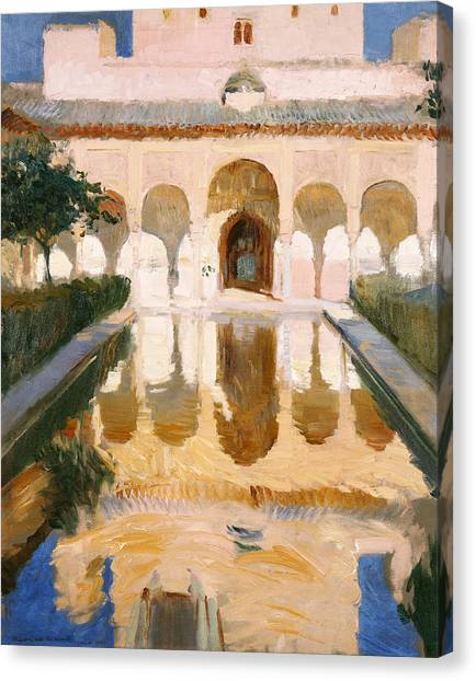 Alhambra Canvas Print - Hall Of The Embassadors Alhambra Granada by Joaquin Sorolla y Bastida