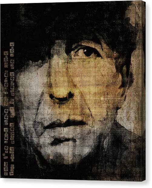 Canadian Canvas Print - Hallelujah Leonard Cohen by Paul Lovering