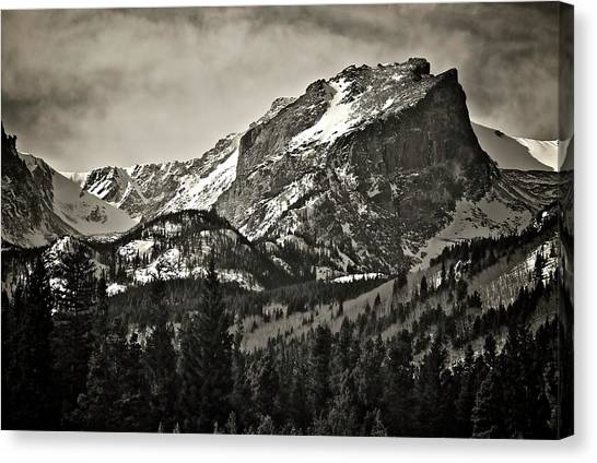 Hallet Peak, Rocky Mountain National Park Canvas Print