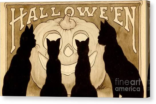 Halloween Canvas Print - Halloween Card by American School