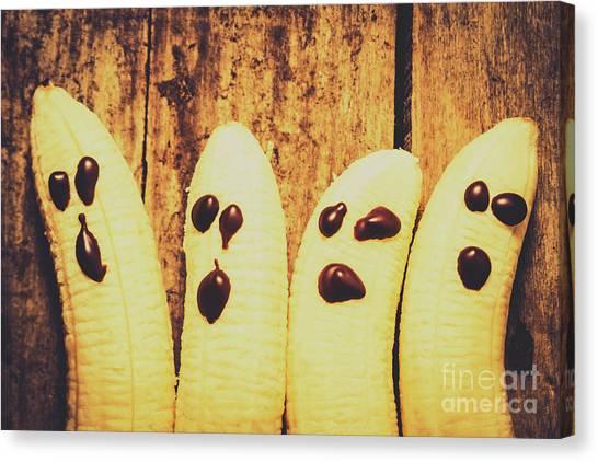 Bananas Canvas Print - Halloween Healthy Treats by Jorgo Photography - Wall Art Gallery
