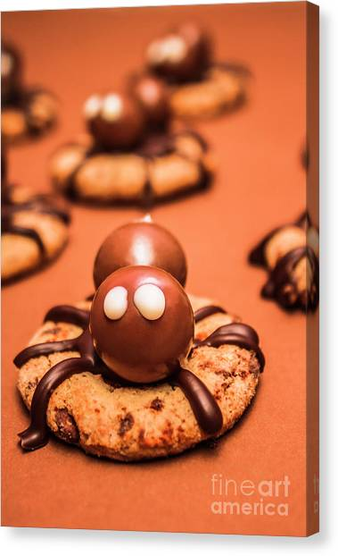 Spiders Canvas Print - Halloween Homemade Cookie Spiders by Jorgo Photography - Wall Art Gallery