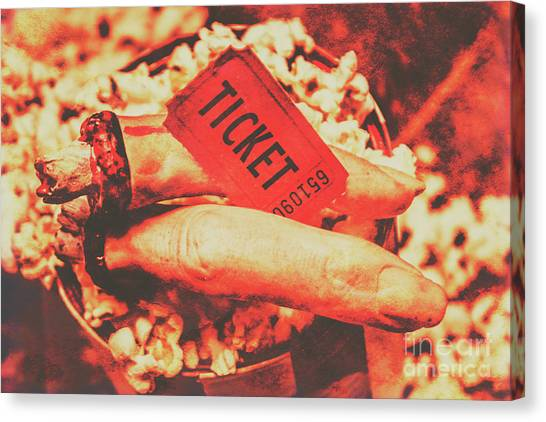 Popcorn Canvas Print - Halloween Horror Film Event by Jorgo Photography - Wall Art Gallery