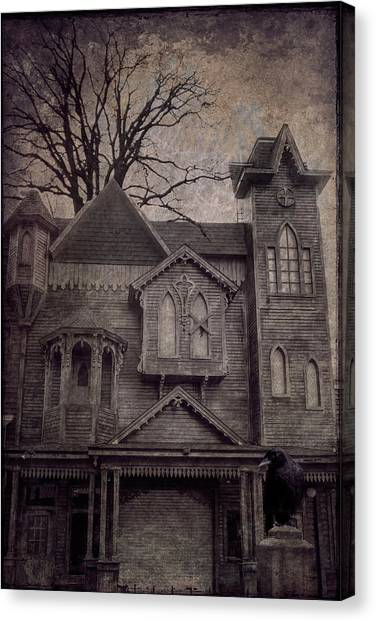 Halloween In Old Town Canvas Print