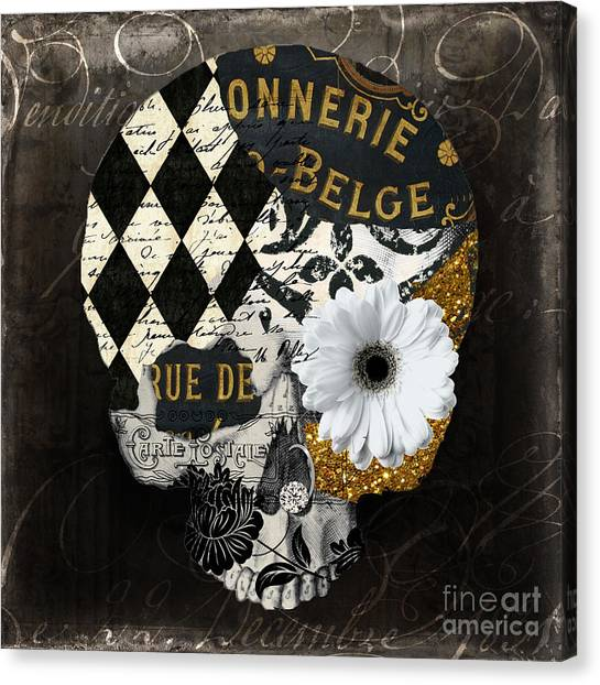 Halloween Canvas Print - Halloween In Paris by Mindy Sommers