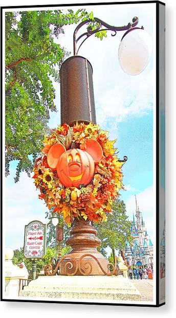 Halloween In Walt Disney World Canvas Print