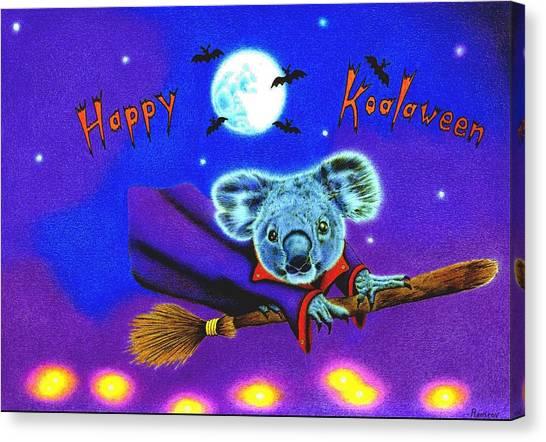 Halloween Koala, Happy Koalaween Canvas Print