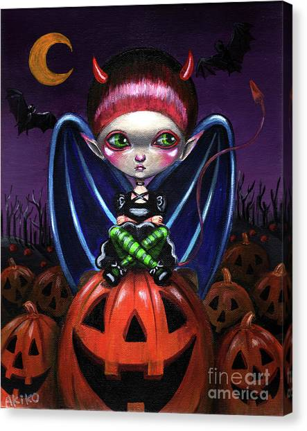 Halloween Little Devil Canvas Print