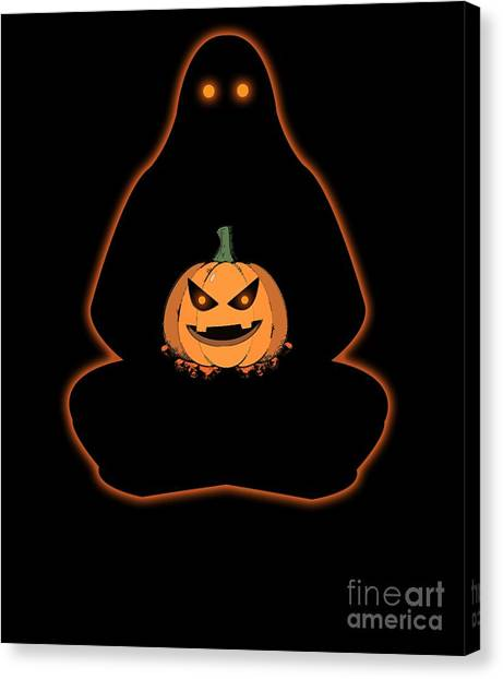 Canvas Print - Halloween Meditation Ghost Costume by Thomas Larch