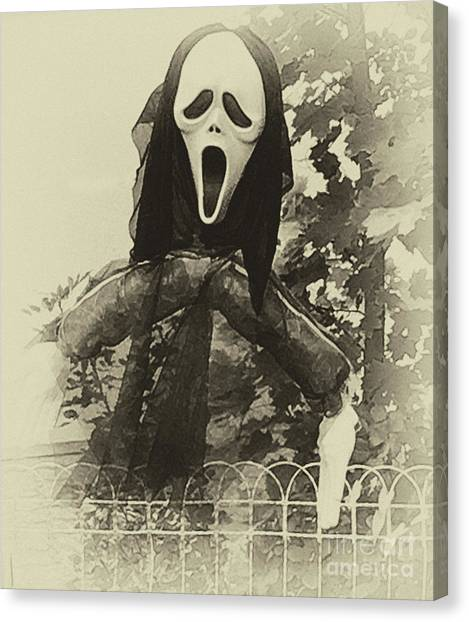 Halloween No 1 - The Scream  Canvas Print