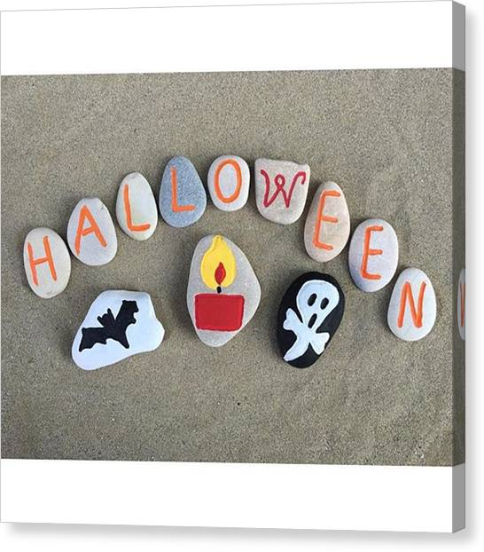 Bats Canvas Print - Halloween On Stones - The Picture Of by Adriano La Naia