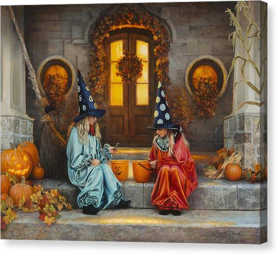 Pumpkins Canvas Print - Halloween Sweetness by Greg Olsen