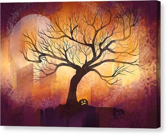 Halloween Canvas Print - Halloween Tree by Thubakabra