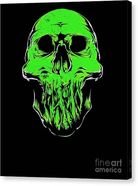 Canvas Print - Halloweentoxic Skull by Thomas Larch