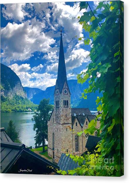 Hallstatt Church Canvas Print