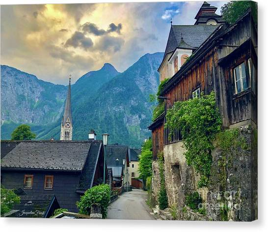 Hallstatt Village Stroll Canvas Print