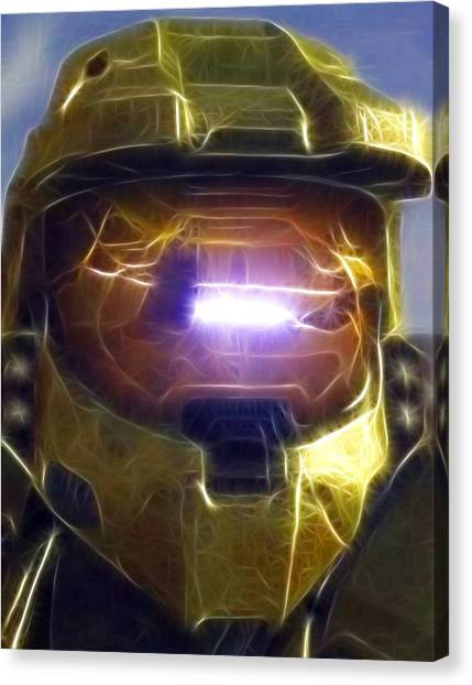 Xbox Canvas Print - Halo Mistical by Paul Van Scott