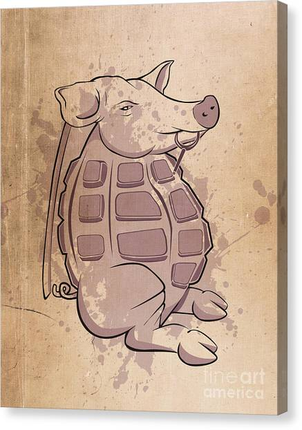 Grenades Canvas Print - Ham-grenade by Joe Dragt