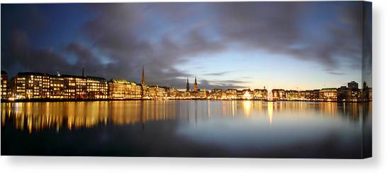 Hamburg Alster Christmas Time Canvas Print by Marc Huebner