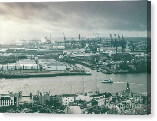Hamburg Port  Canvas Print