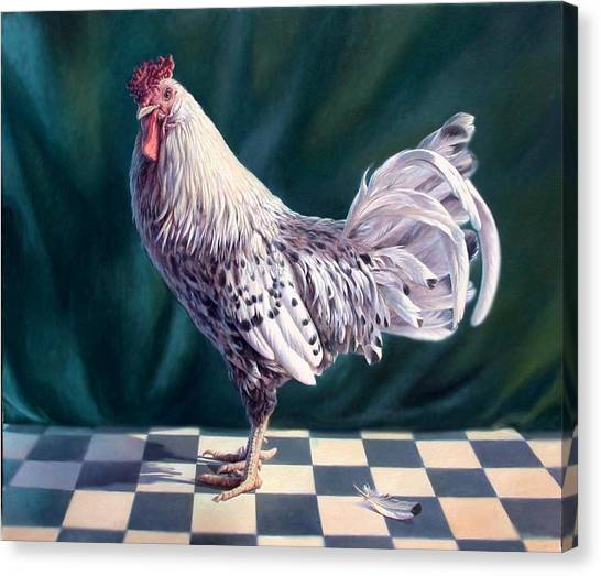 Hamburger Rooster Canvas Print