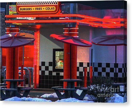Hamburgs-fries-colas Canvas Print by Robert Pearson