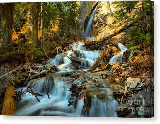 Canada Glacier Canvas Print - Hamilton Falls Landscape by Adam Jewell