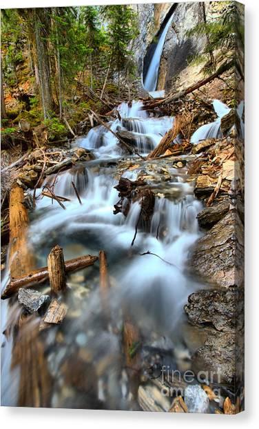 Canada Glacier Canvas Print - Hamilton Falls Waterfall Portrait by Adam Jewell
